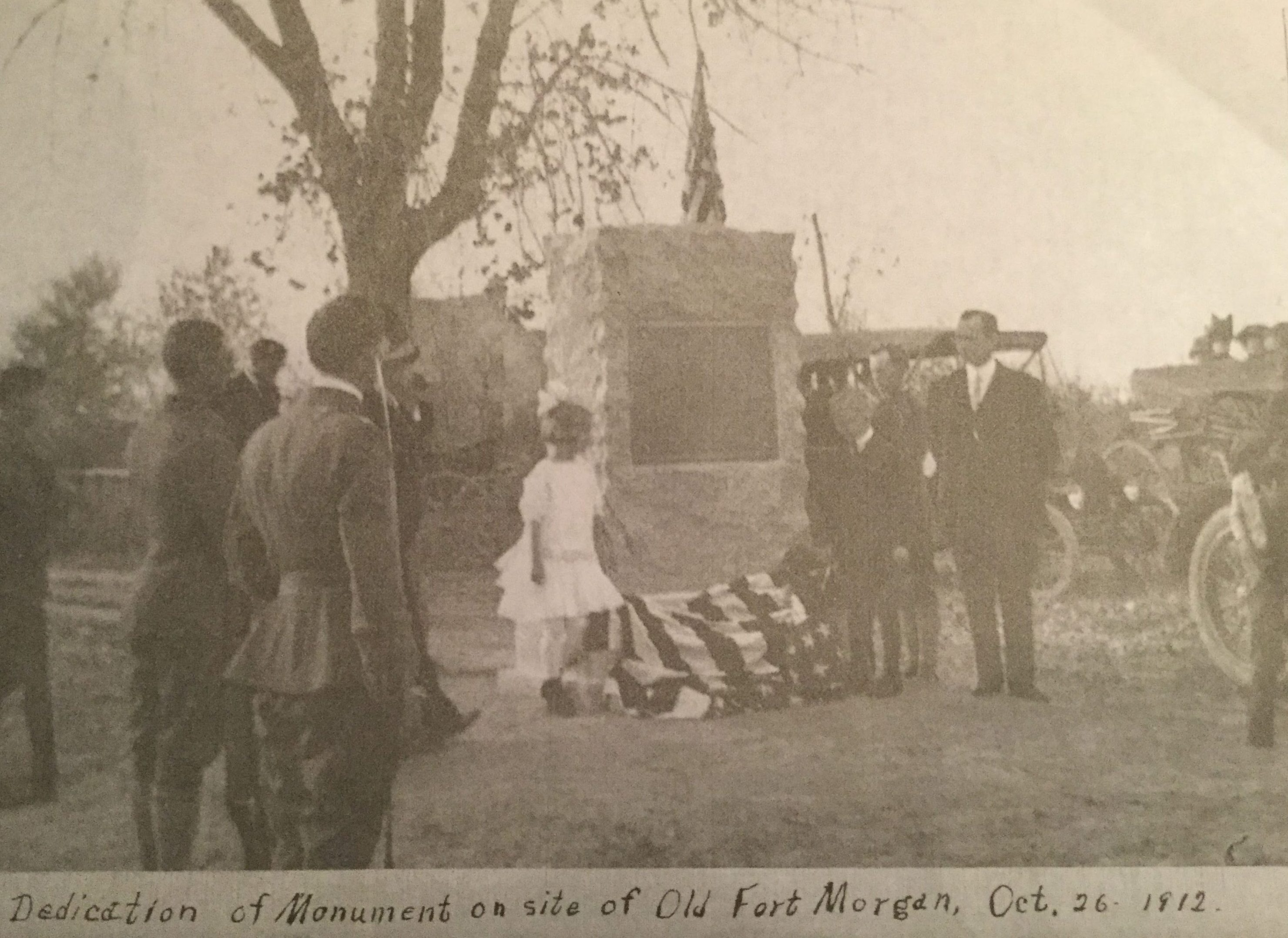 Dedication of Monument on site of Old Fort Morgan, October 26, 1912